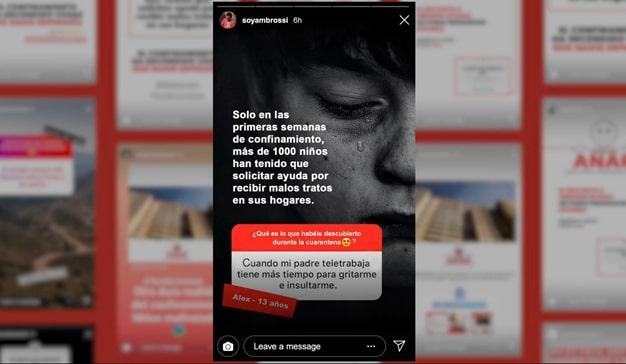 Declaraciones campaña ANAR maltrato de menores confinamiento