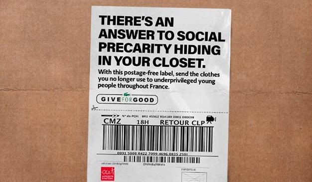 Lacoste le permite enviar ropa a los más necesitados