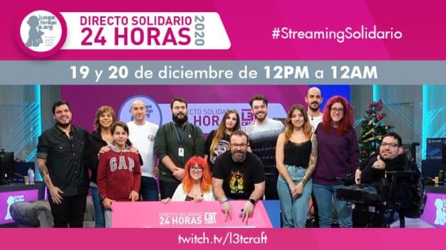 Letcraft celebra su streaming solidario los días 19 y 20 de diciembre