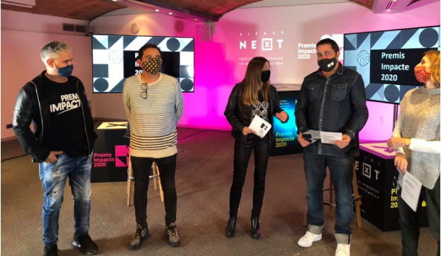 entrega de Premis Impacte 2020 en el festival Sitges Next