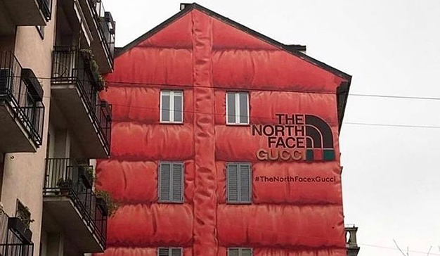 The North Face Gucci mural