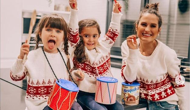 Verdeliss y 7 hijos nueva campaña Nesquik navidad