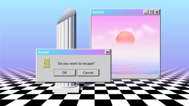 Tendencias creatividad - vintage vaporwave