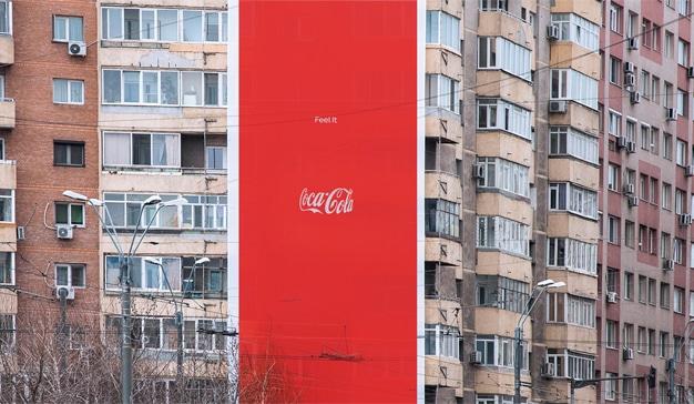 Coca-cola campaña publicidad exterior