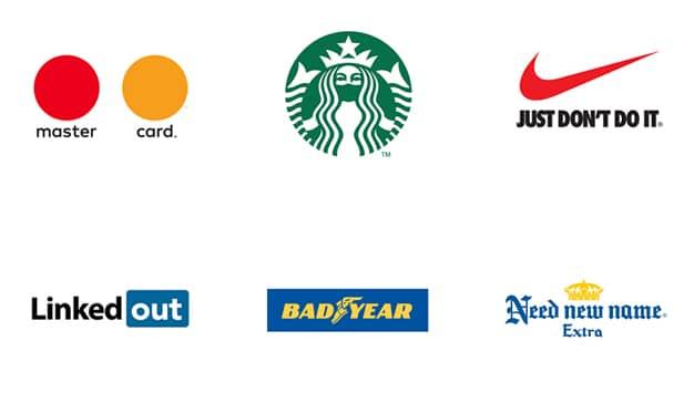 Logos de grandes marcas