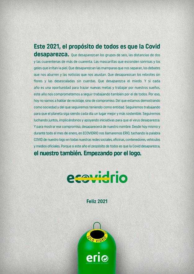 Ecovidrio publica un manifiesto