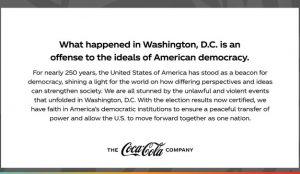 Marcas como Ben & Jerry's y Coca-Cola se pronuncian tras el asalto al Capitolio en Washington