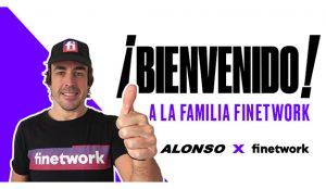 Finetwork, nuevo patrocinador personal de Fernando Alonso