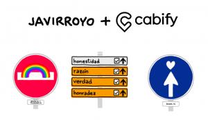 Javirroyo colabora con Cabify en la creación de unas señales de tráfico de buenas conductas