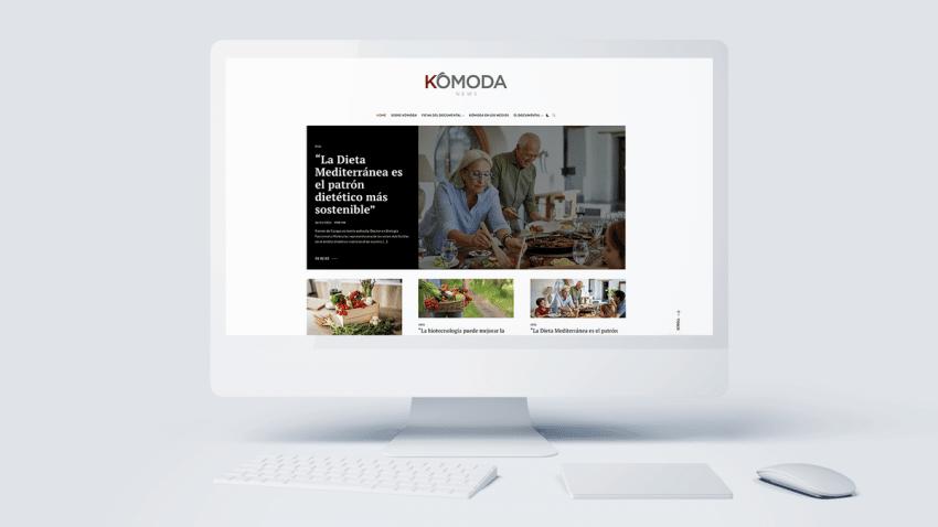 Torres y Carrera lanza Kómoda News, plataforma de contenidos de salud, nutrición y bienestar
