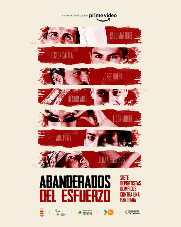 Cartel documental Abanderados del Esfuerzo