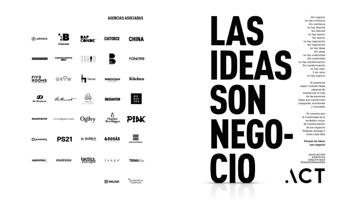 manifiesto ACT las ideas son negocio