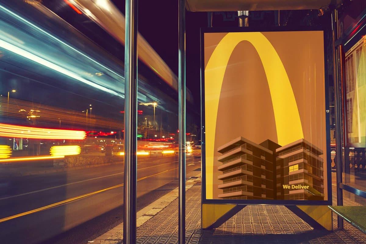 minimalismo creatividad anuncio McDonald's