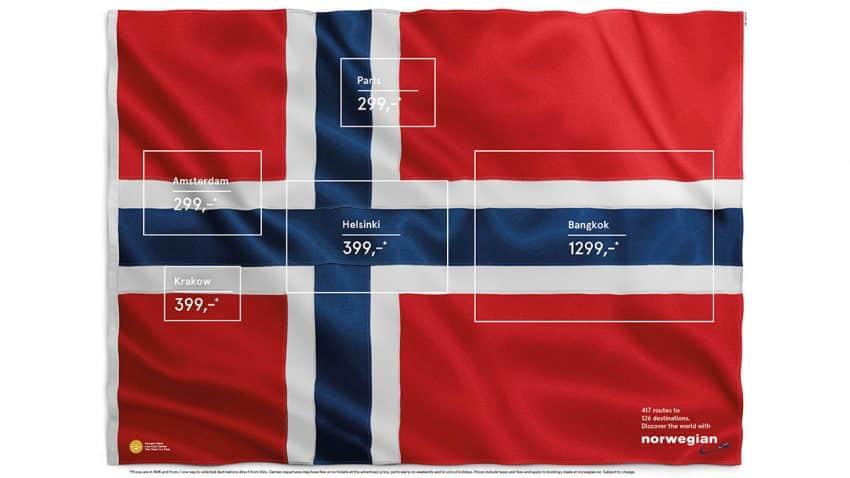 Este anuncio de Norwegian iza la bandera de la creatividad de manera increíblemente ingeniosa