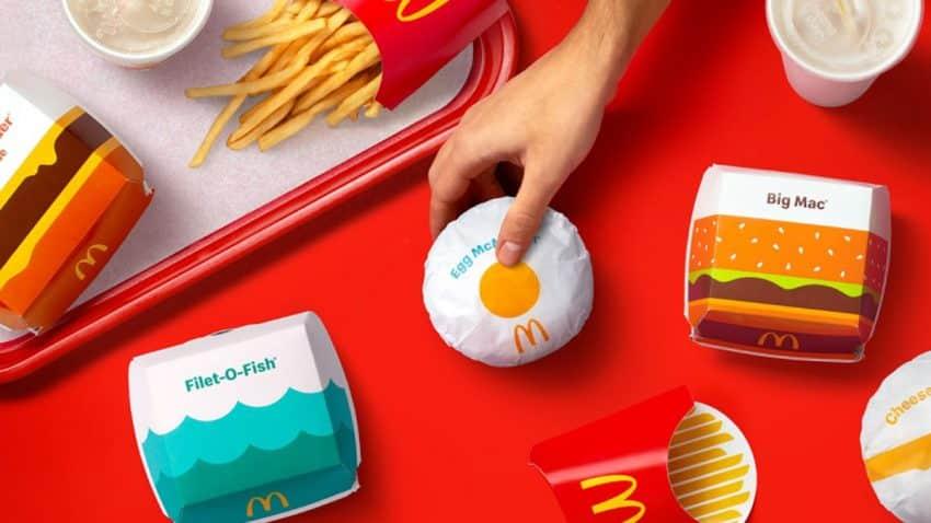 Ilustraciones alegres y llamativas: así es el nuevo packaging de McDonald's