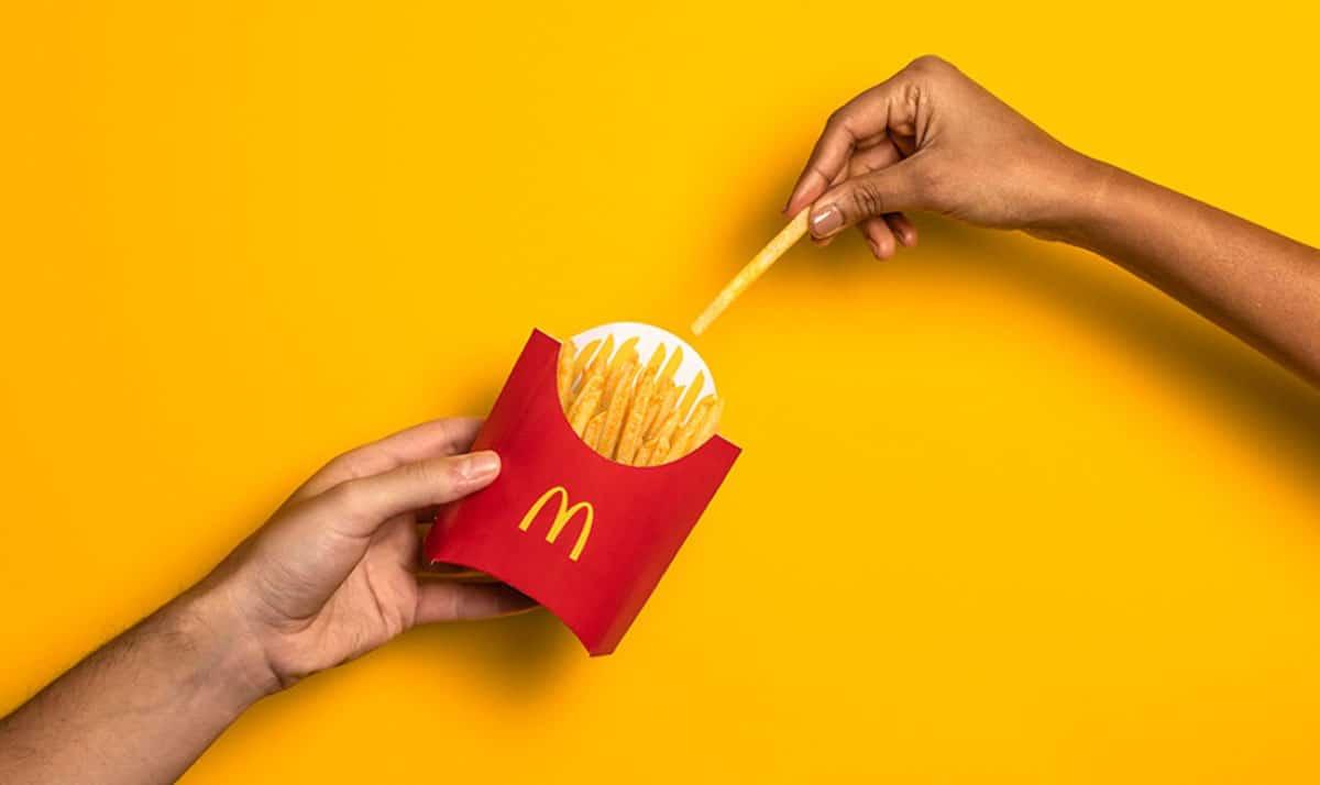 caja patatas McDonald's