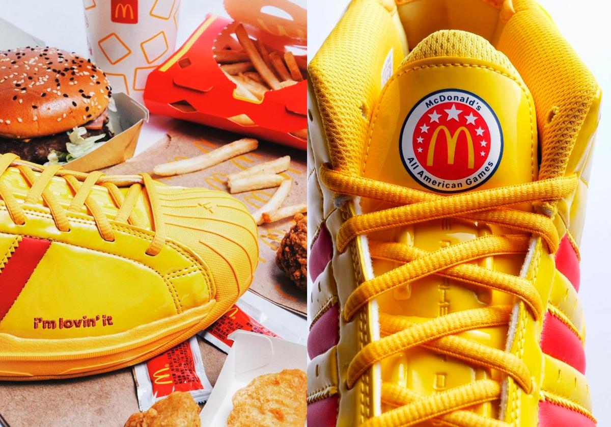 zapatillas adidas y McDonald's
