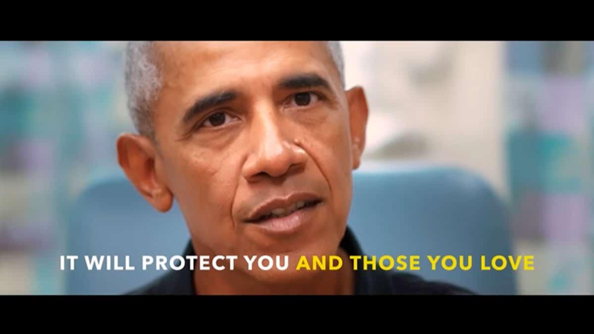 Obama, Clinton, Bush y Carter spot vacuna