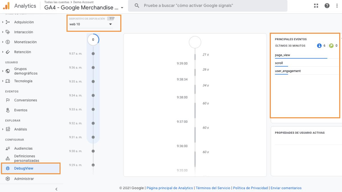 debugview google analytics 4