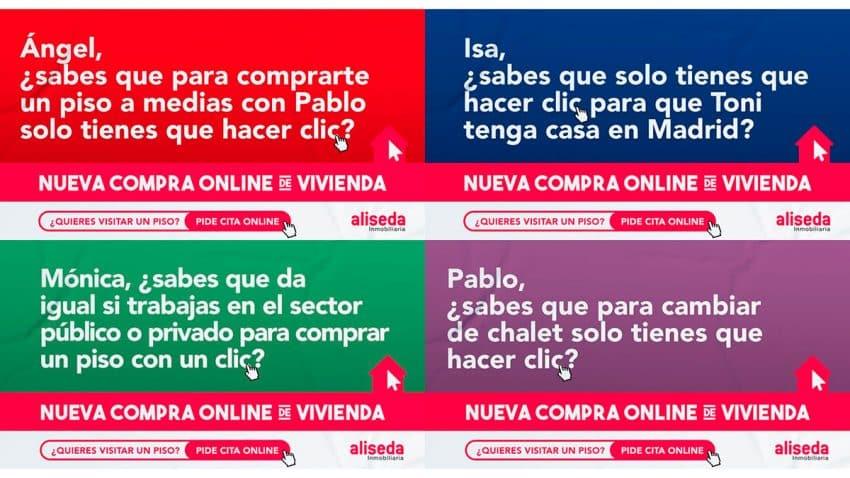 Aliseda lanza una campaña con divertidos mensajes para los candidatos del 4M
