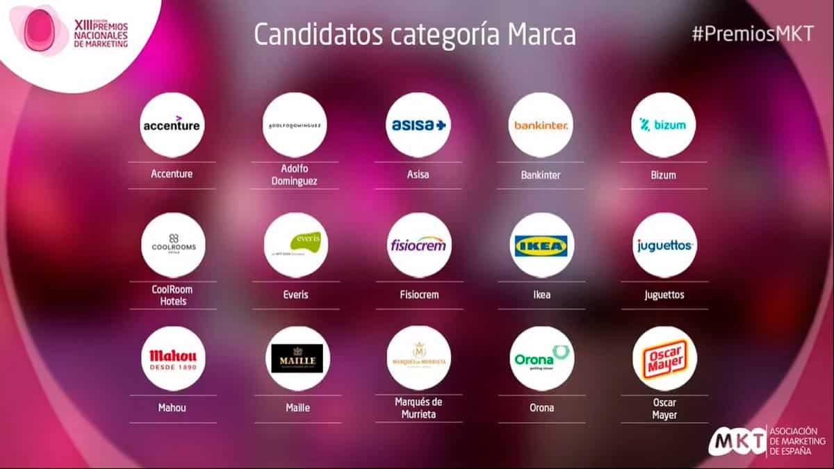 lista larga marca Premios Nacionales de Marketing