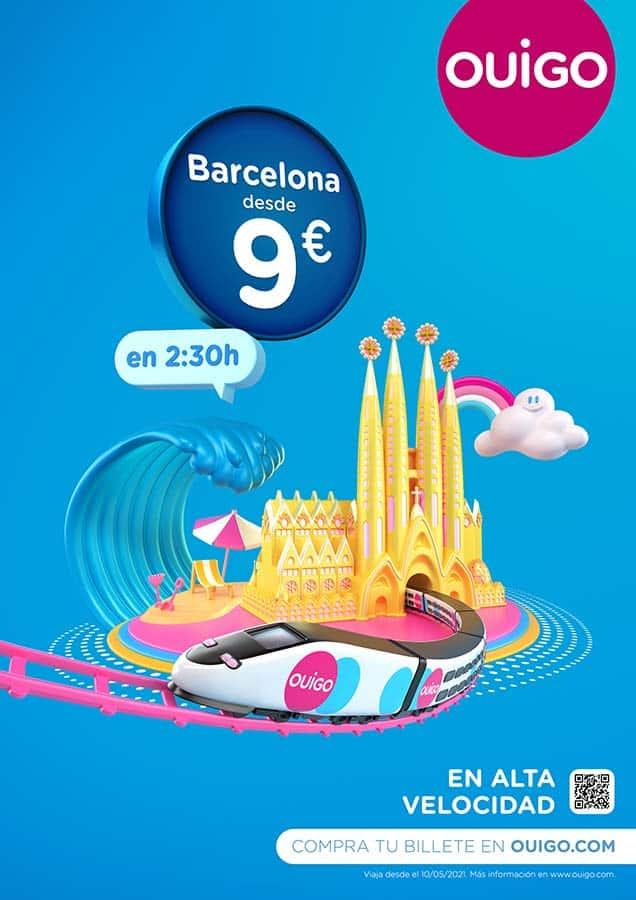 ouigo campaña gráfica barcelona