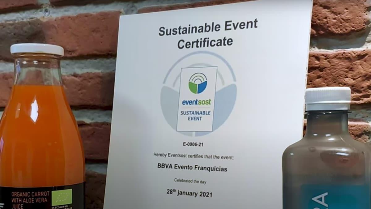 certificado evento sostenibilidad