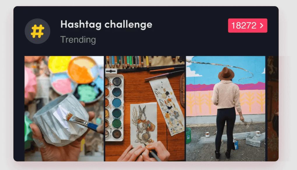 imagen TikTok hashtag challenge