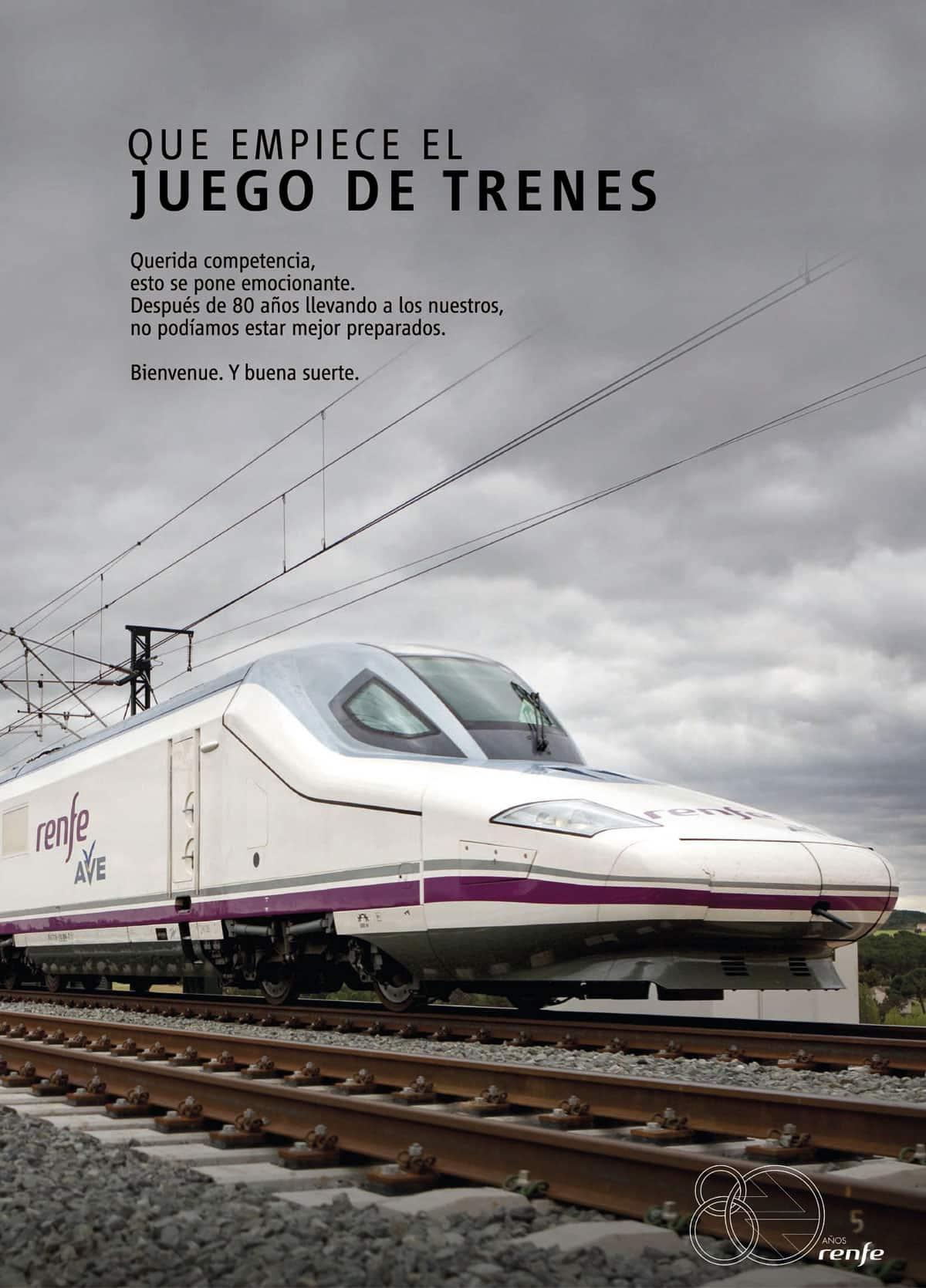 Juego de Trenes Renfe gráfica