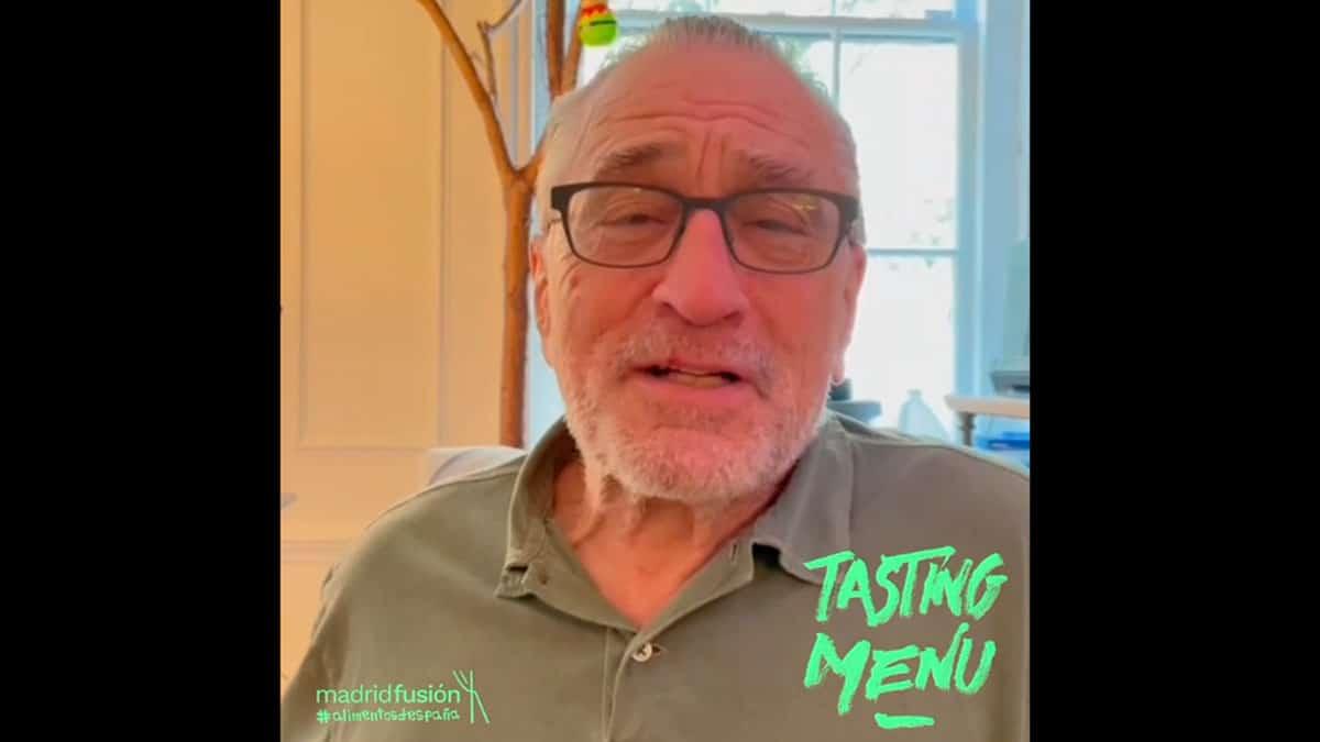 Robert De Niro será imagen de Madrid Fusión 2020 a cambio de degustar un menú elaborado por cinco grandes chefs.