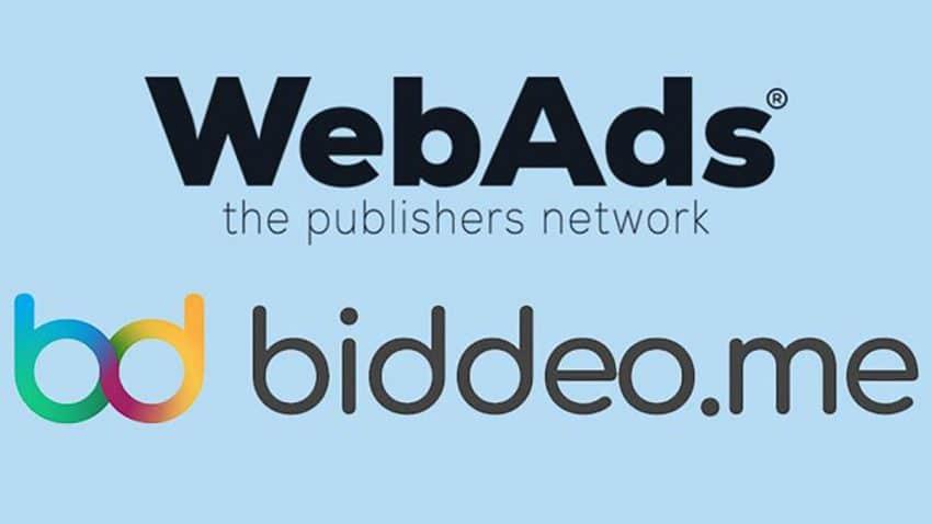 Biddeo y WebAds anuncian una nueva colaboración