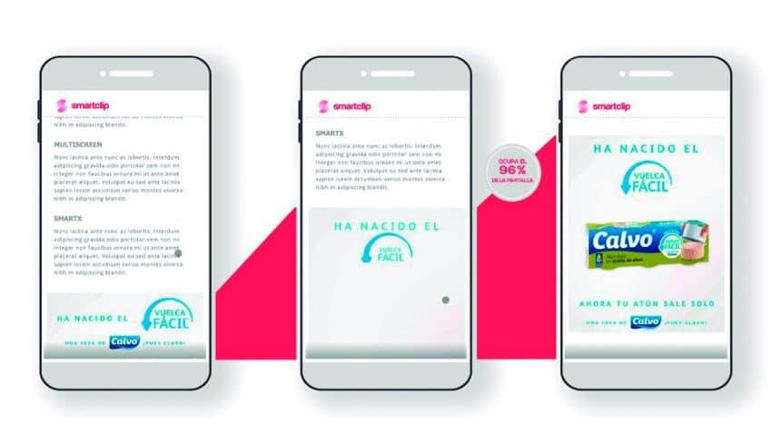 Smartclip presenta interesantes avances en formatos rich media video para dispositivos móviles