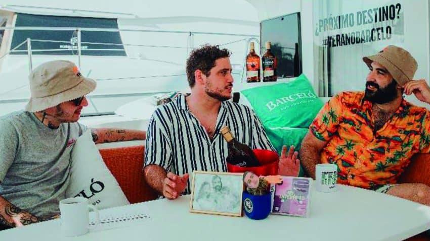 Ron Barceló hace el primer streaming en Twitch en un barco de la mano de NOOB