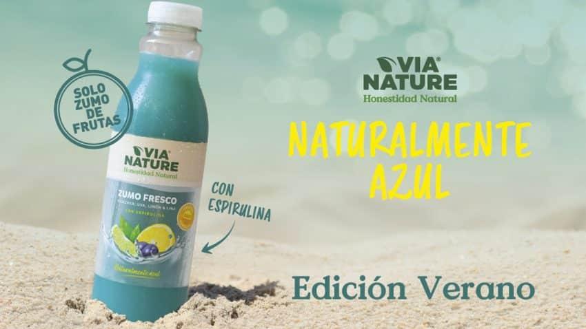 Vuelve el éxito del verano: Via Nature relanza el primer zumo naturalmente azul