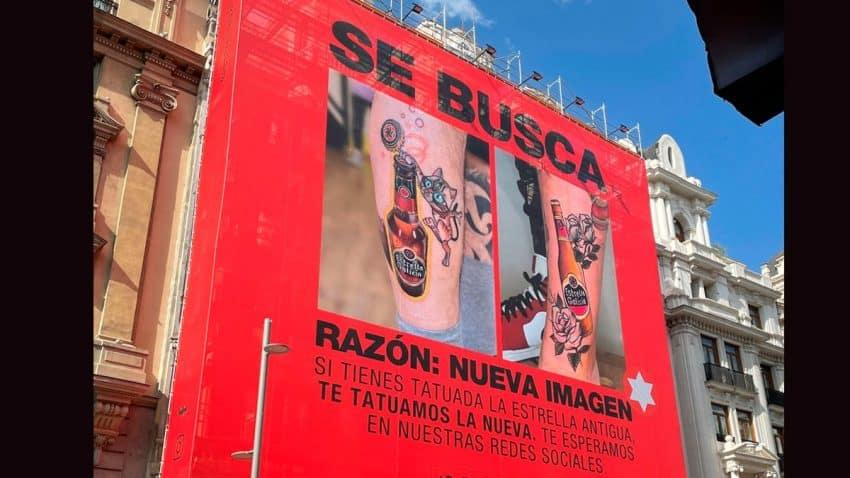 Estrella Galicia busca a personas con la estrella antigua tatuada para tatuarle la nueva