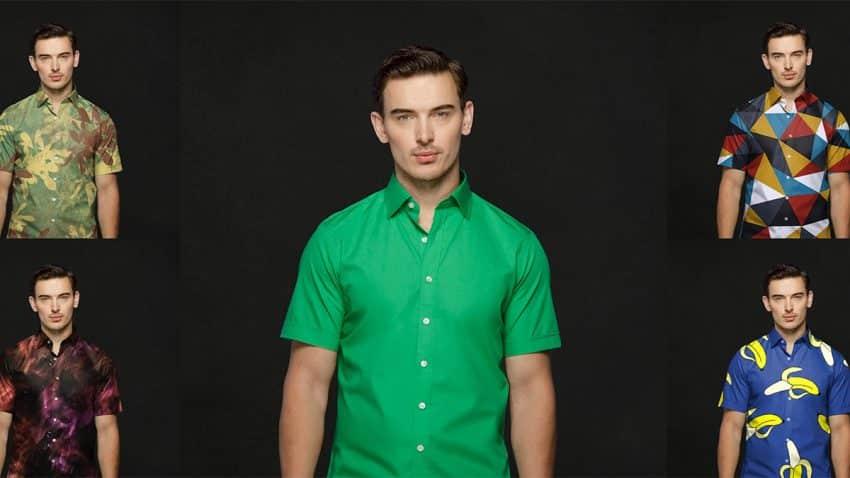 Esta camisa verde con efecto croma te permite lucir infinitos