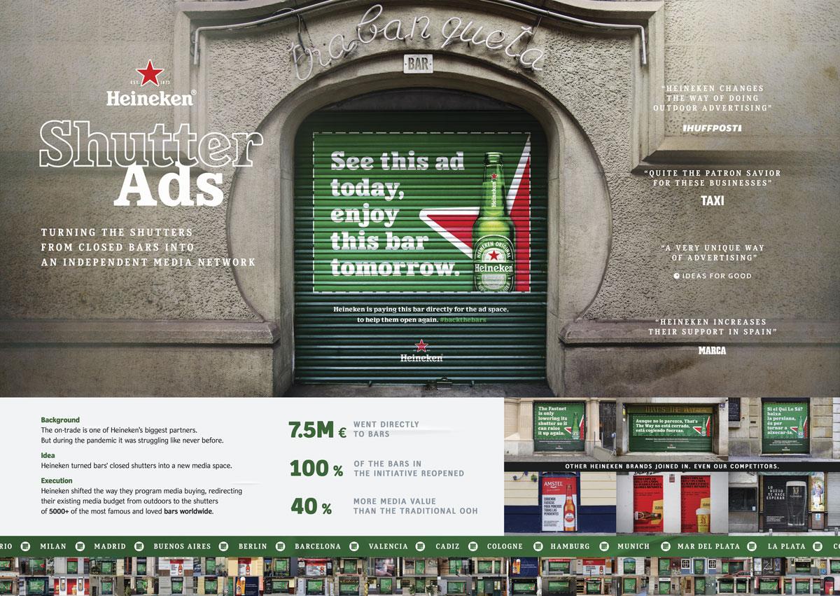 Shutter Ads Heineken Cannes Lions 2021