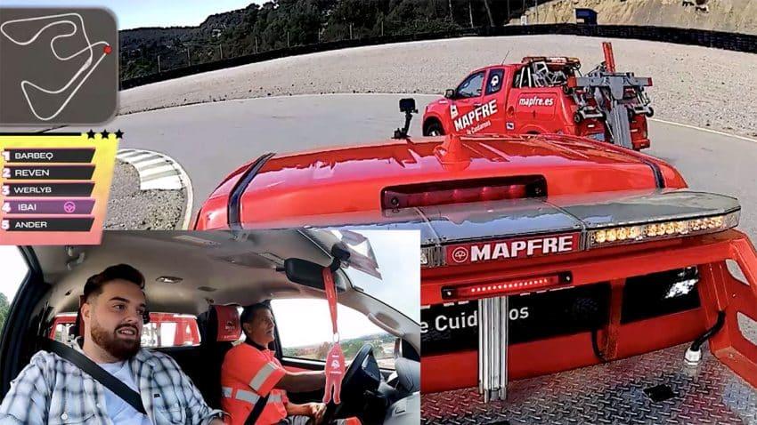 De Marbella Vice al mundo real: MAPFRE organiza una carrera de grúas con Ibai Llanos