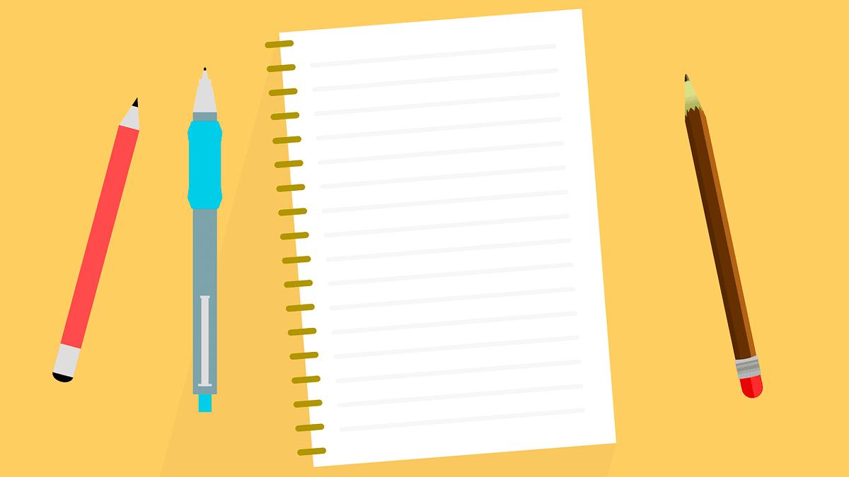 lápiz y papel
