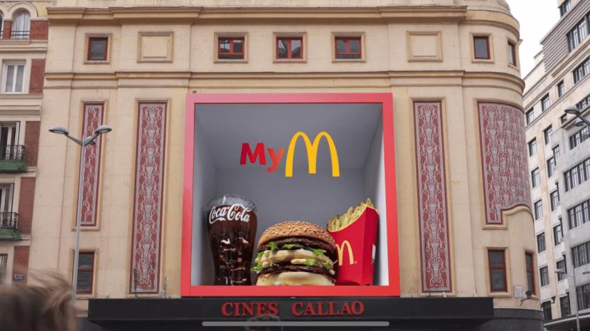 McDonald's convierte su app en un valioso tesoro gracias al 3D de Callao City Lights