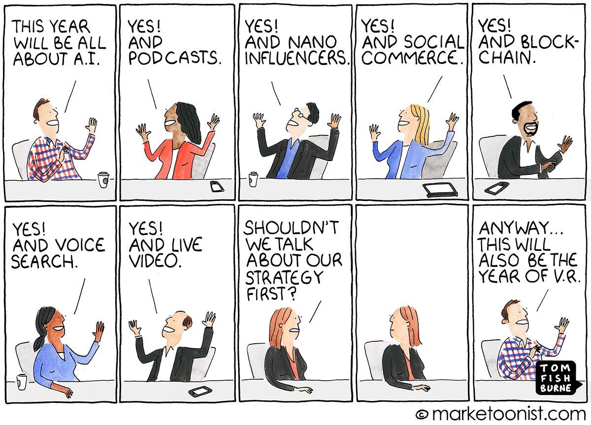 """Marketing predictions"" Tom Fishburne"