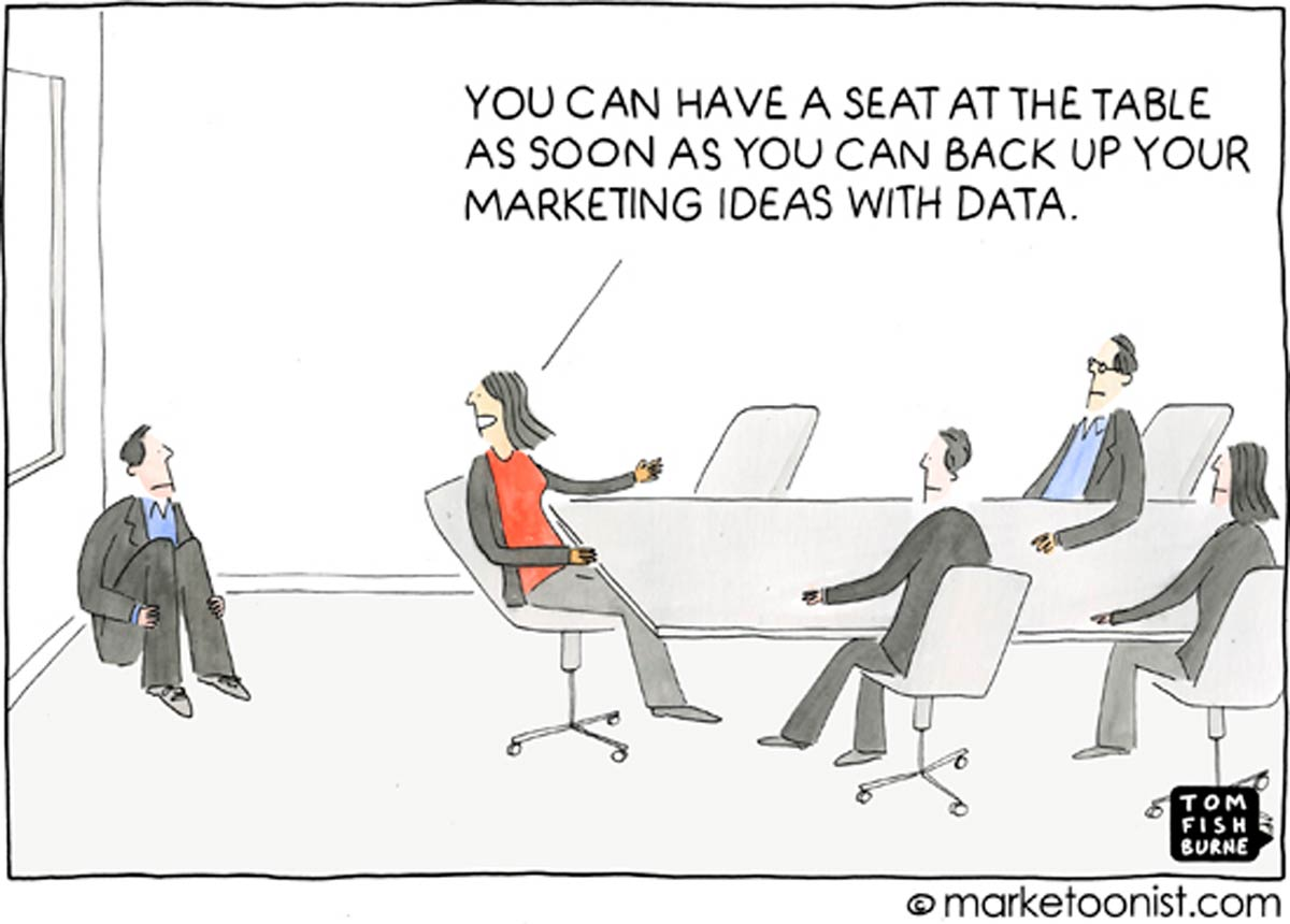"""""""marketing seat at the table"""" Tom Fishburne"""