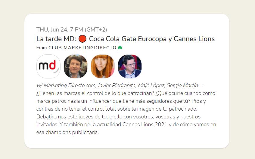 La tarde MD podrá el foco en el Coca-Cola Gate y Cannes Lions