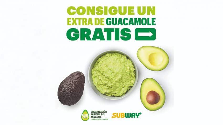 """La organización mundial del aguacate y Subway se unen para regalar, por primera vez en España, un topping de guacamole """"El topping del verano"""""""