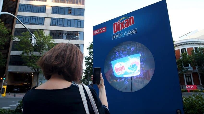 Hologramas en pleno centro de Madrid