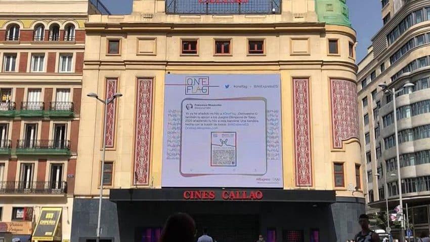OMD España y Aliexpress, pioneros en el uso de una tecnología innovadora que conecta el formato gigante de Callao City Lights con twitter