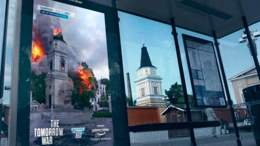 Amazon Prime Video lanza una apocalíptica campaña de exterior para promocionar su última película