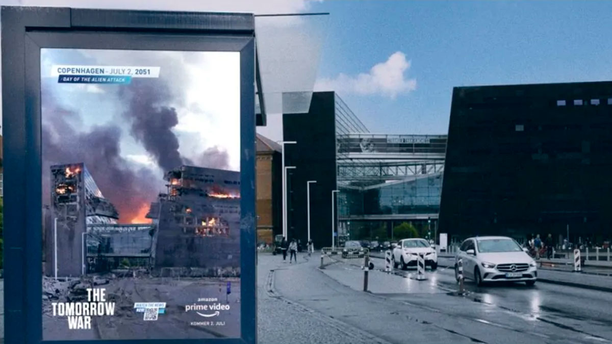 Amazon Prime Video campaña exterior The Tomorrow War