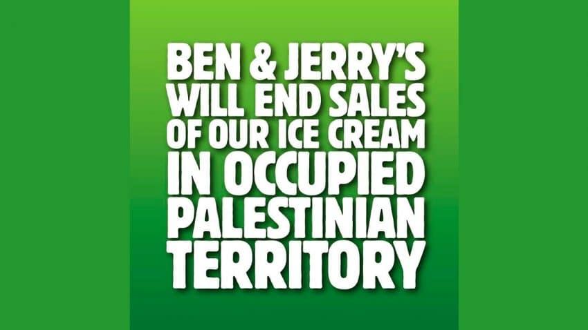 Ben & Jerry's dejará de vender su helado en el territorio palestino ocupado