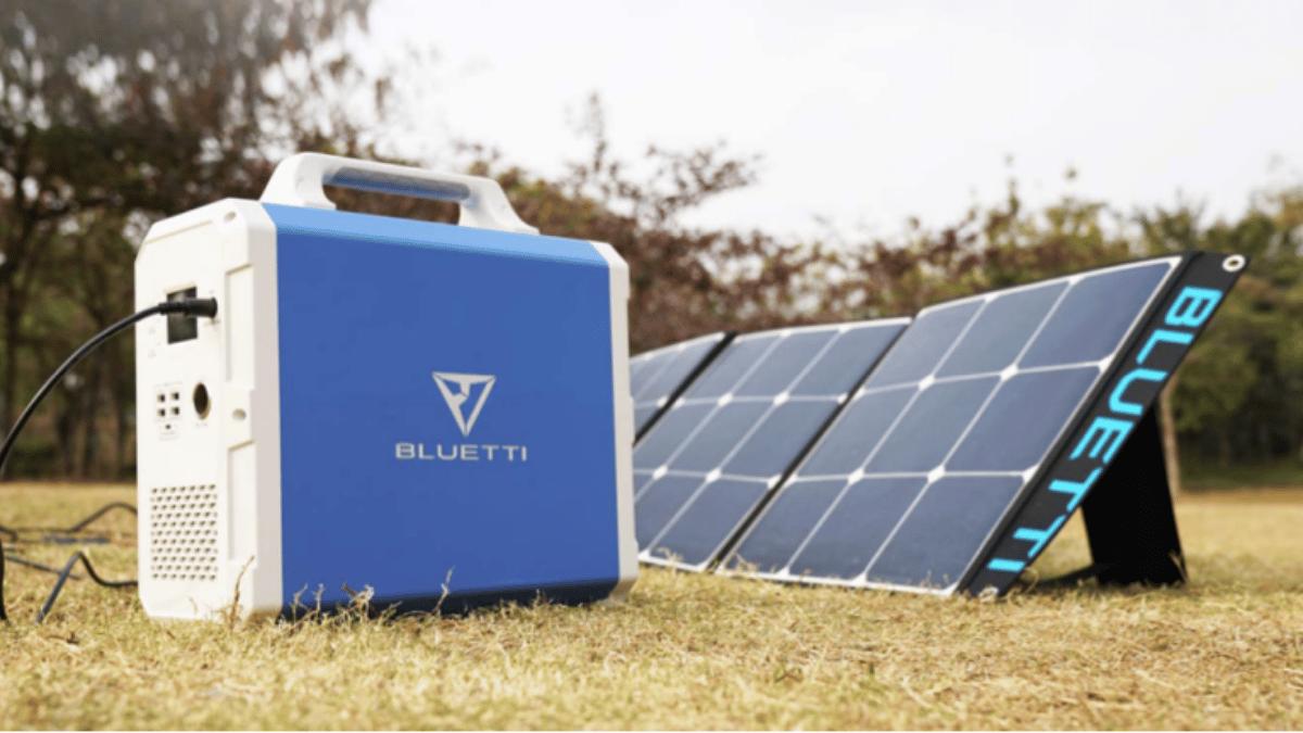 panel solar con altavoz bluetti